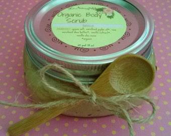 Organic Exfoliating Body Scrub - 8 oz or 16 oz jar
