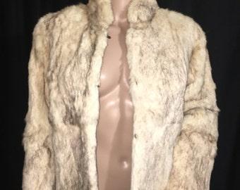 BEAUTIFUL FULL Brown Rabbit Fur Jacket Coat