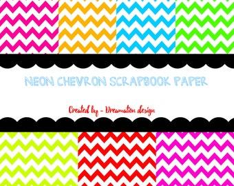 Neon Chevron Background