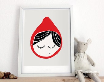 Little Red Riding Hood - type print A4 / A3