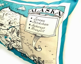 Alaska State Pillow Cover with Insert