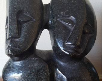 Twins Sculpture Made in Zimbabwe