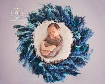 Digital newborn backdrop/ prop - feathered nest (Carly)