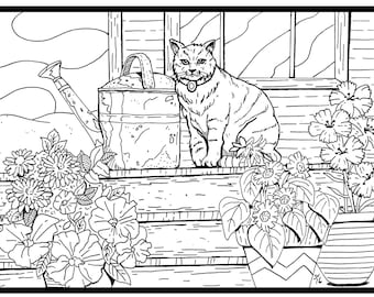 cat coloring page from Cat Country coloring book