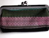 Handwoven Boho Clutch, Elegant Purse, Small Handbag, Bridal Bag, Black Boho Clutch, Funky Bag, Asian Small Bag,  Made in NC
