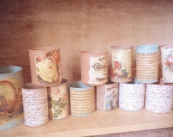 Vintage Tin Can Candles