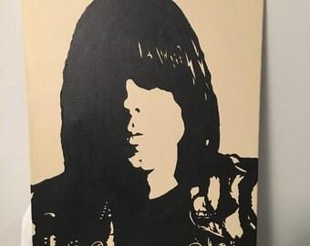 Johnny Ramone 16x20 acrylic on canvas
