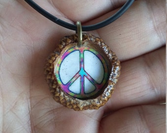 Peace Acorn Necklace