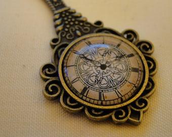 Celtic Clock Steampunk Pendant