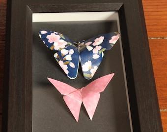 Framework origami butterflies. Taxidermy.