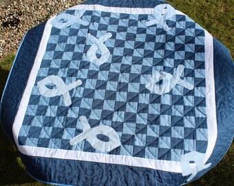 Handmade Patchwork Lap Quilt - Charity Quilt