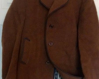 Brown Wool and Cashmere men's coat