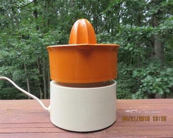 Vintage Sears Automatic Juicer Orange