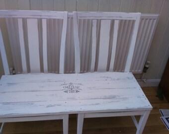 Handmade shabby chic bench