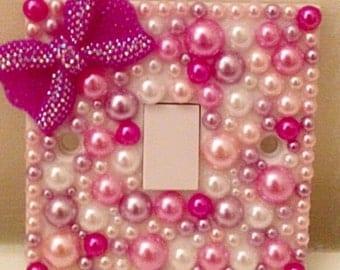 Customised pearl gem light switch