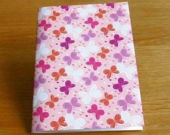 Butterfly Notebook. Ideal Stocking filler, Butterfly Party Bag filler, Butterfly Birthday, Butterfly Christmas present
