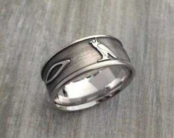 Egyptian ring, Egyptian wedding band, hieroglyph ring, hieroglyphics on wedding band,hieroglyphs name ring, custom name ring, Egyptian