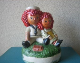 Vintage Raggedy Ann and Andy Figures Old Raggedy Ann and Andy