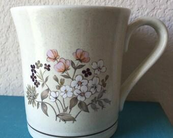 Vintage Royal Doulton Bredon Hill Mug, Lambethware, Pink, White and Purple Flowers