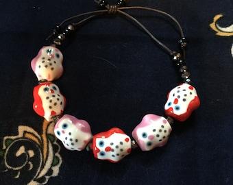 Handmade Adjustable Sliding Owl Bracelet