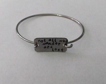 stamped bangle bracelet