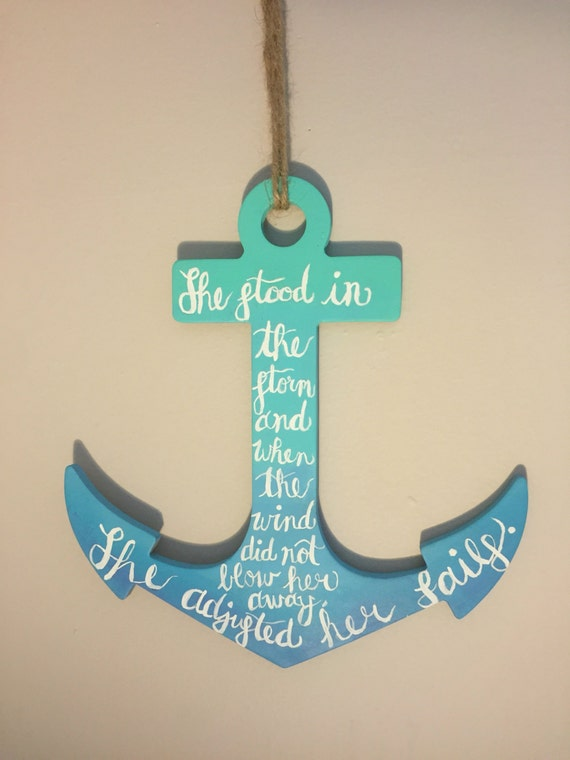Personalized Nautical Wall Decor : Made to order anchor wall decor nautical by
