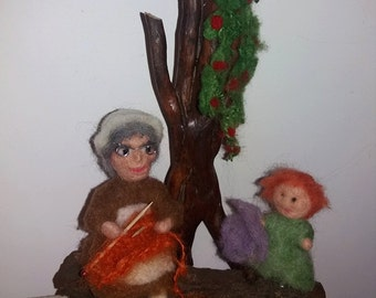 Doll-grandmother with granddaughter