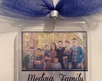 Custom glass photo ornaments