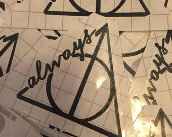 Always : Harry Potter Deathly Hallows Inspired vinyl decal