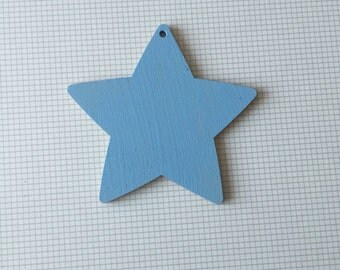 Baby blue hanging star