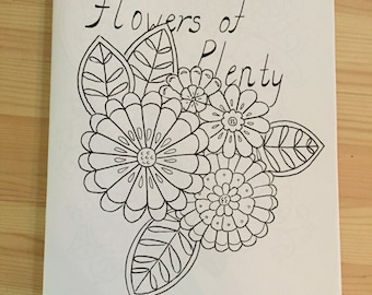 Flower and Paiselys Coloring book