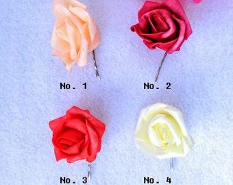 Set of 4 Roses Bridal Hair Pin