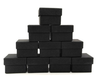 jewelry box, Rings Boxes, black box, 50pcs, Kraft Jewelry Gift Box, jewellery packaging, Gift Box, wedding favor, favor boxes, 5x5x3.5cm