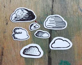 sticker set cloudy sky / felhő matrica készlet