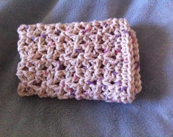 Crocheted Multi Colored Wash Cotton Washcloth