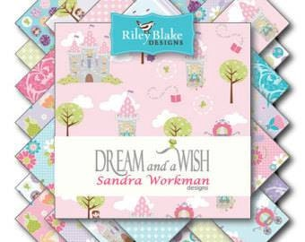 Dream and a Wish By Sandra Workman for Riley Blake Designs - Fat Quarter Bundle