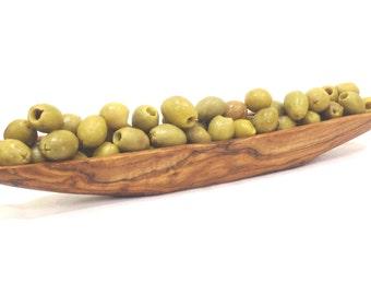 Olive wood olive bowl