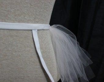 White and Pink Tutu Garter Belt