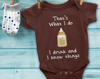Game of Thrones Baby Onesie. Funny Baby Onesie I Drink And I Know Things by Tyrion Lannister. Game of Thrones Baby Bodysuit Baby Shower Gift
