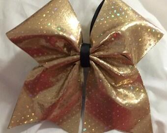 Pretty Gold Cheer Bow