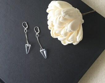 Swarovski crystal sterling silver spike earrings