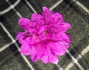 Purple Dahlia Flower hair Clip