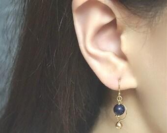 Blue Sandstone 14k Gold Filled Earrings