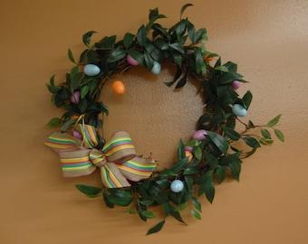 Handmade Spring Easter Wreath,Holiday Home Decor & Entertaining