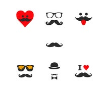 Mustache Collection : Machine embroidery design stitches, freeembroidery, embroidery designs, embroidery library, etsy shop