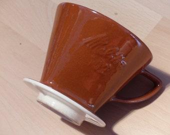 Melitta coffee filter chocolate brown 102 3 holes of vintage seventies