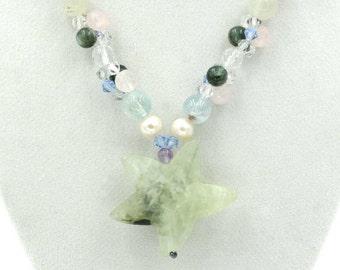 African Prenite Star Necklace