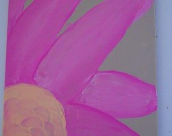 Pink Petals Acrylic Painting