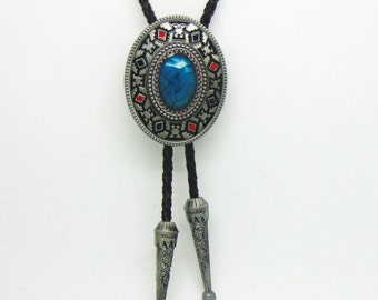 Native American Indian Art Bolo Tie