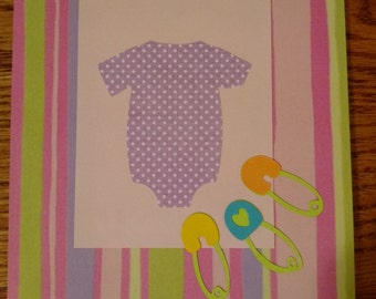 New baby card for a little girl